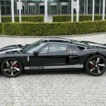 ford gt black side-1680x1050